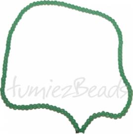03448 Glaskraal streng (±30cm) imitatie jade Groen 4mm 1 streng