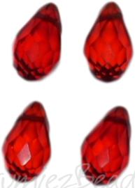 04341 Glaskraal druppel Rood 4 stuks