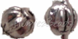 00793 Spacer meloen Antiek zilver (Nikkel vrij) 6mmx5mm 15 stuks