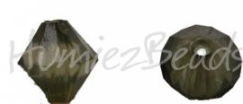 00403 Acryl kraal facet Donker groen 9mmx7mm 20gram