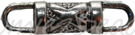 00503 Tussenstuk cilinder X Antiek zilver 3 stuks