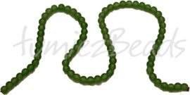 01273 Glaskraal frosted streng ±40cm Groen 6mm 1 streng