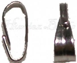 03070 Tussenstuk hanger Metaalkleurig (Nikkelvrij) 7mmx3mm; gat 6mmx2.5mm 12 stuks