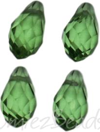04335 Glaskraal druppel Peridot 4 stuks