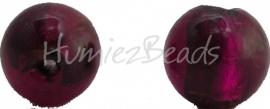 02926 Glaskraal zilverfoil rond Bruin 10mm
