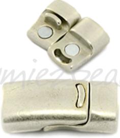 01434 Magneetslot Metaalkleurig mat (Nikkelvrij) 26mmx13mmx8mm; gat 10mmx5mm 1 stuks