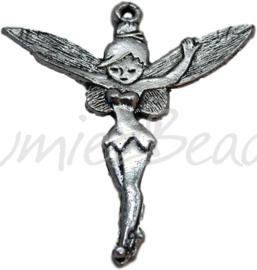 00147 Bedel Tinkerbell staand Antiek zilver