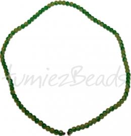 03453 Glaskraal streng ±40cm Jelly Groen-geel 4mm 1 streng