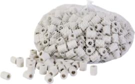 00880 EM keramische kralen / pijpjes Anti teek 35 stuks (±50 gram)