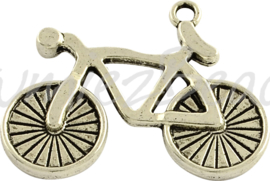 02968 Hanger fiets Antiek zilver (Nikkelvrij) 26mmx35mmx3mm; gat 2,5mm