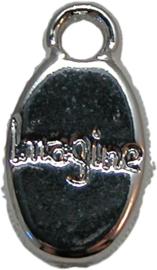 01976 Bedel Imagine Antiek zilver (Nikkelvrij) 16mmx8mm
