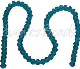 01144 Glasperle imitation swarovski faceted Abacus strang (±20cm) Blau 6mmx8mm 1 strang