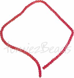 03557 Glaskraal streng (±40cm) crackle Oranje 4mm 1 streng