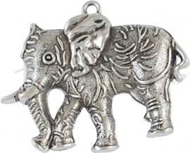 01572 Hanger olifant Antiek zilver (Nickel vrij) 66mmx54mm 1 stuks