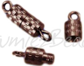 01181 schroefslot Koperkleurig (Nikkelvrij) 10mmx4mm 6 stuks
