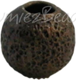 00288 Stardust kraal Brons 4mm; gat 1,5mm 30 stuks