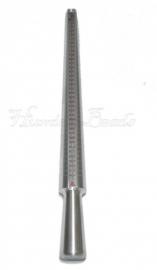 G-0009 Ringstok Aluminium Metaalkleurig 250mmx25mm per stuk