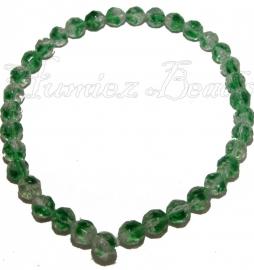 02013 Glaskraal streng (±30cm) Groen 10mmx9,5mm 1 stuks