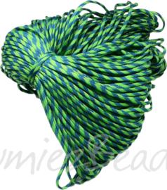 PARA-4032 Parakoord Licht groen-donker groen 4mm 6 meter