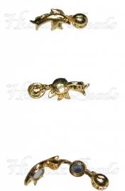 01397 Magneetslot dolfijn met bal Goudkleurig (Nikkelvrij) 27mmx10mmx10mm