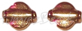 02139 Spacer plat rond Antiek goud (Nikkelvrij) 10mmx8mmx3mm 11 stuks