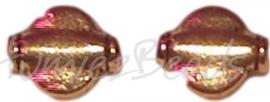 02139 Spacer plat rond Antiek goud (Nickel vrij) 10mmx8mmx3mm 11 stuks