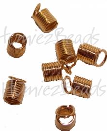 01986 Spiraalklemmetje Goudkleurig (Nickel vrij) 3mm 25 stuks