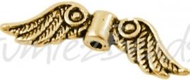 01488 Spacer vleugel Antiek goud (Nickel vrij) 23mmx7mm; gat 1,5mm