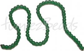 00039 Glaskraal frosted streng ±40cm Groen 6mm 1 streng