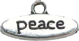 01890 Bedel peace Antiek zilver 17mmx9mm