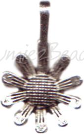 00178 Hanger madeliefje Antiek zilver 20mmx12mm 3 stuks