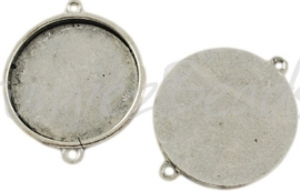 02759 Tussenstuk Cabochon setting Antiek zilver (Nikkelvrij) 29mmx22mmx2,5mm; binnenzijde 20mm 1 stuks