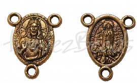 00750 Tussenstuk religieus Antiek goud 19mmx15mm