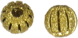 01251 Stardust kraal  Goudkleurig (Nikkelvrij) 10mmx10mm; gat 3mm 5 stuks