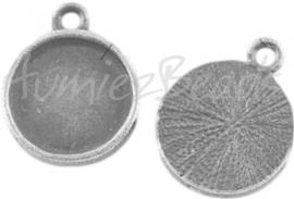 01022 Hanger cabochon setting Antiek zilver (Nikkelvrij) 18mmx14mm; binnenzijde 12mm 1 stuks