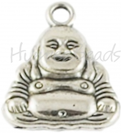 00343 Bedel Boeddha Antiek zilver 20mmx17mm