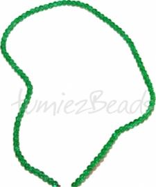 03562 Glaskraal streng (±40cm) crackle Groen 4mm 1 streng