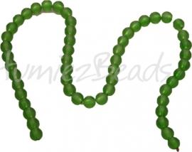 01270 Glaskraal frosted streng ±40cm Groen 8mm 1 streng
