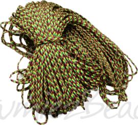 PARA-4029 Parakoord Rood-groen-geel-zwart 4mm 6 meter
