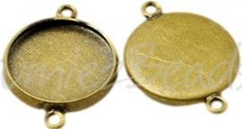 02331 Tussenstuk Cabochon setting Antiek brons (Nikkelvrij) 21mmx16mmx2,5mm; binnenzijde 14mm 1 stuks