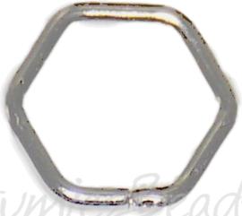 04125 Ringetjes 6-hoekig Metaalkleurig (Nikkelvrij) 7mmx0,7mm ±50 stuks