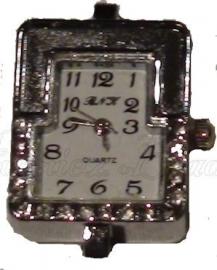 01090 Horloge bling Metaalkleurig/Chrystal  1 stuks