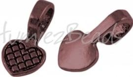 01032 Plakoog voor hangers (glue on bail) Antiek koper (Nickel vrij) 8mmx8mm