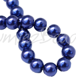 04033 Glasparel DarkBlue 3-4mm; gat 0,5mm 1 streng ±30cm