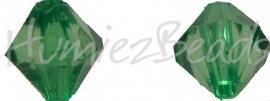00156 Acryl kraal facet Groen 9mmx7mm 20gram