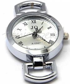 01145 Horlogekasje Metaalkleurig 48mmx29mm 1 stuks
