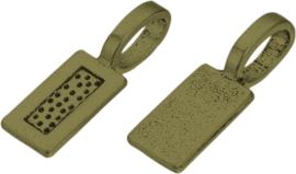 04495 Plakoog voor hangers (glue on bail) Antiek Brons (Nikkelvrij) 21mmx7mmx1mm 7 stuks