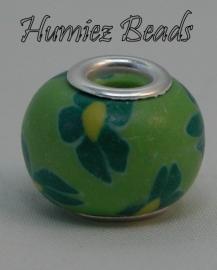 02272 Pandorastijl Fimo kraal Groen 15mm