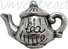00537 Bedel theepot Antiek zilver 18mmx14mm