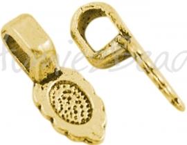 00529 Plakoog voor hangers (glue on bail) Antiek goud (Nikkel vrij) 6 stuks